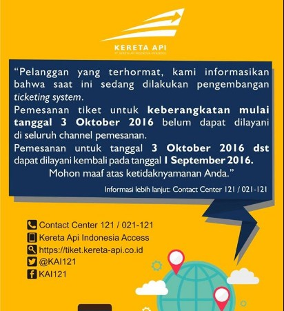Info Tiket KAI Terbaru