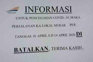 KA Lokal Merak Rangkas Batal