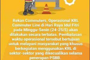 Jam Operasional KRL Lebaran