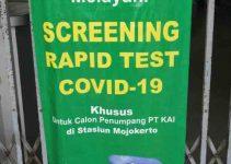Rapid Test Stasiun Mojokerto