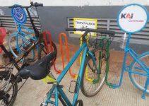 Parkir Sepeda di stasiun
